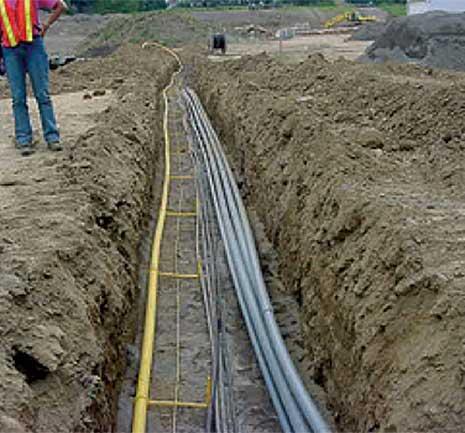 underground distribution circuit construction
